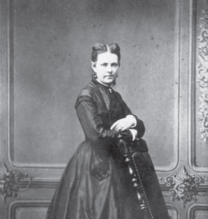 Bertha Ludwig in jungen Jahren.