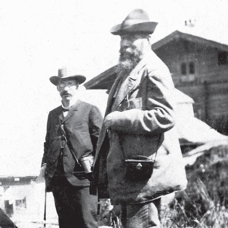 Wilhelm Conrad Röntgen bei einer Wanderung.