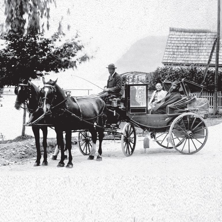 Ehepaar Röntgen in Pontresina - häufiges Urlaubsziel auch von München aus, um alte Freunde zu treffen.