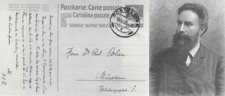 Foto: Roentgen-Postkarte (c) Universitätsbiliothek Würzburg